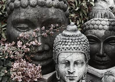 Photograph - Faces Of Buddha by Regina Arnold