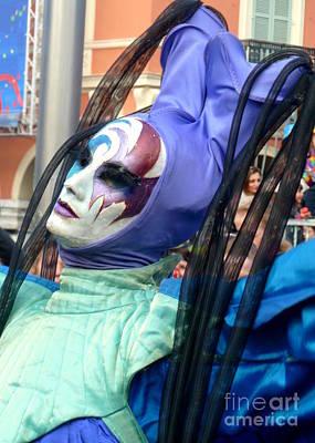 Anna Duyunova Art Photograph - Faces Of Carnival.blue by Anna  Duyunova