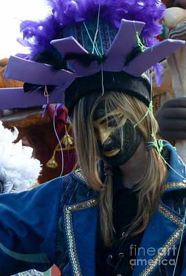 Anna Duyunova Art Photograph - Faces Of Carnival.indigo by Anna  Duyunova