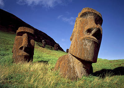 Photograph - Faces Of Mystery Easter Island Heads by Cliff Wassmann