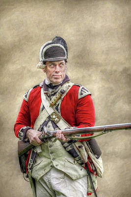 Redcoat Digital Art - Faces Of The American Revolution British Soldier by Randy Steele