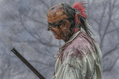 Huron Indian Digital Art - Faces Of The French And Indian War Native American by Randy Steele