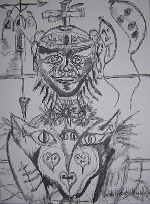 Tears Drawing - Faces Of Virtue While Tears Stream by Timothy  Foley