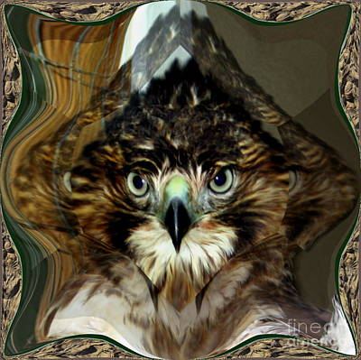 Digital Art - Faceted Hawk by Renee Trenholm