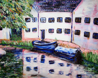Painting - Factory On The River by Abbie Shores