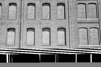 Factory Windows Bricked Art Print by Everett
