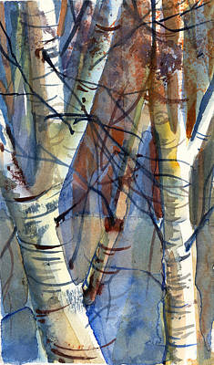 Autumn Landscape Drawing - Fade To Autumn by Mindy Newman