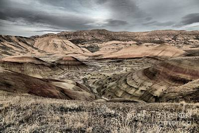 Photograph - Faded Painted Hills by Adam Jewell