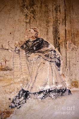 Photograph - Faded Religious Mural Mexico by John  Mitchell