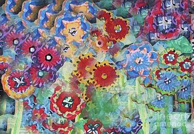 Fading Flower Power Art Print by Marilyn West