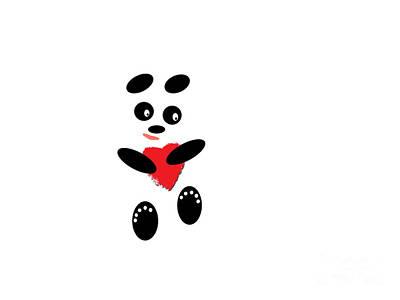 Fading Like A Flower. Panda In Love. #01 Art Print by Ausra Huntington nee Paulauskaite