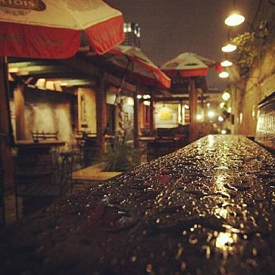 Austin Photograph - Fado's Patio After A Rain by James Granberry