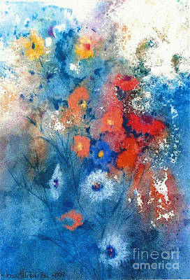 Art Print featuring the painting Faerie Flowers by Joan Hartenstein