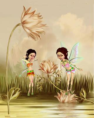 Fairies In The Garden Original
