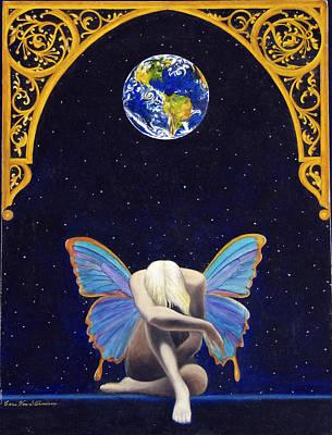 Fairies Lament Art Print by Cari Von Sternberg