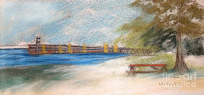 Fairport Harbor Pier Print by Lisa Urankar