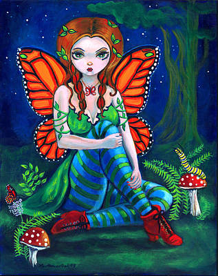 Monarch Painting - Fairy Monarch by Lyn Cook