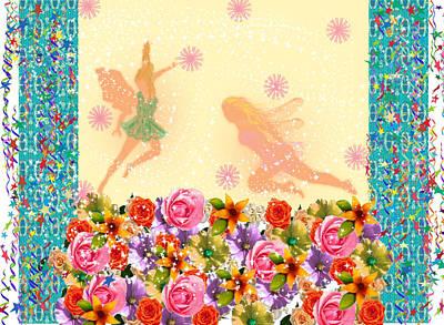 Fairy Play Art Print by Rosalie Scanlon