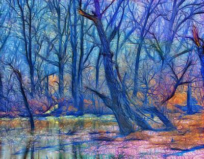 Moorish Digital Art - Fairytale Swamp by Bill Tiepelman