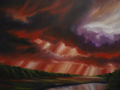 Abstract Realism Painting - Faith by James Christopher Hill