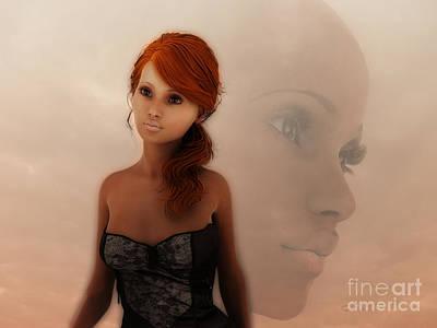 Faithful Digital Art - Faithful Eyes by Jutta Maria Pusl