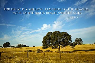 Christian Poster Mixed Media - Faithfulness by Bonnie Bruno