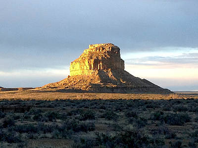 Chaco Culture Nhp Photograph - Fajada Butte At Dawn by Feva  Fotos