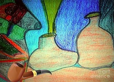 Fake Pipe Art Print by Fania Simon