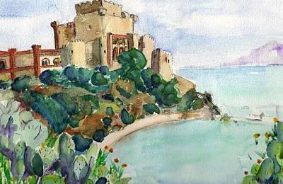 Sicily Painting - Falconara by Fontaine Maverick
