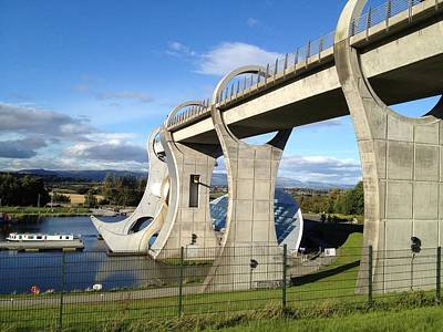 Drawing - Falkirk Wheel by Michael McKenzie