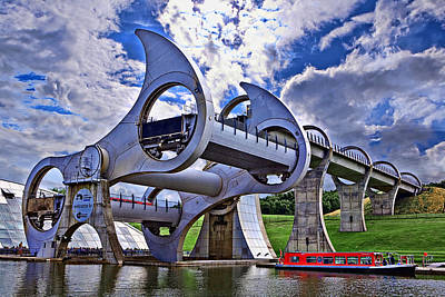 Falkirk Wheel Art Print by Wendy White