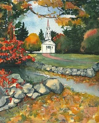 Fall At Martha-mary Chapel - Sudbury Art Print