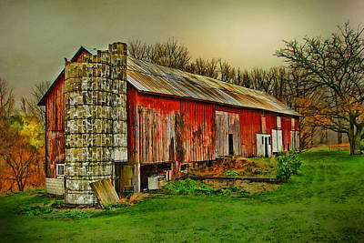 Art Print featuring the photograph Fall Barn by Mary Timman