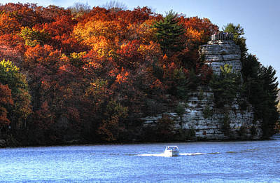 Photograph - Fall Boating At Starved Rock by Coby Cooper