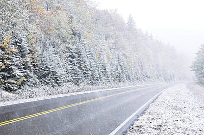 Virginia Snow Photograph - Fall Color And Snow Along The Highland Scenic Highway by Thomas R Fletcher