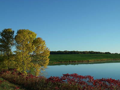 Fall Color By The Lake Original by Brian  Maloney
