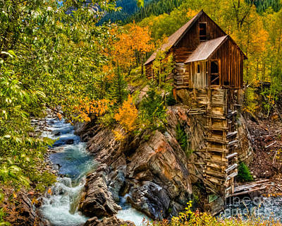 Photograph - Fall Colors At Crystal Mill by Harry Strharsky