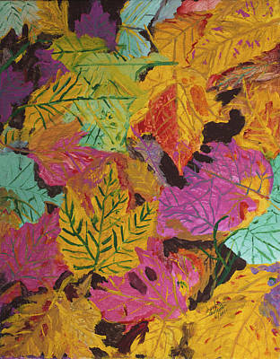 Painting - Fall Colors Of Maple Leaves by Swabby Soileau