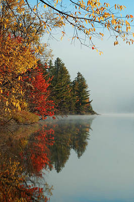 Photograph - Fall Colors On Low's Lake by Peter DeFina
