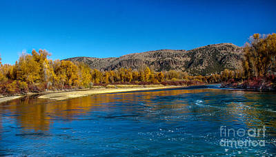 Fall Colors On The Snake River Art Print by Robert Bales