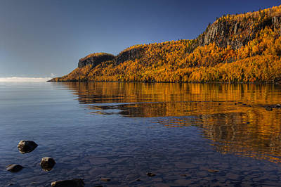 Curated Beach Towels - Fall Colours in the Squaw Bay II by Jakub Sisak