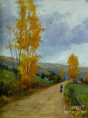 Painting - Fall Day by Victoria  Broyles