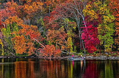 Fall Fishing Art Print by Boyd Alexander