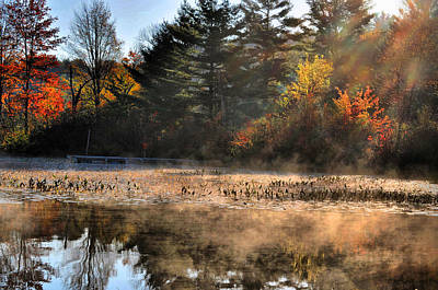 Photograph - Fall Fog Rising by Emily Stauring