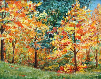 Fall Foliage Art Print by AnnaJo Vahle