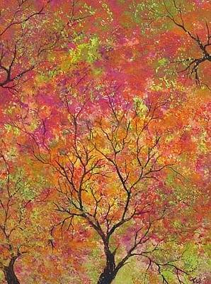 Painting - Fall Foliage by Flo Markowitz