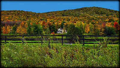 Photograph - Fall Glory On The Other Side Of The Fence by Chantal PhotoPix