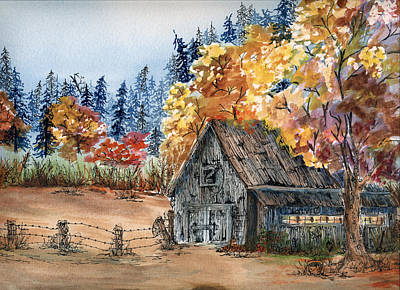 Painting - Fall Hide And Seek by Meldra Driscoll