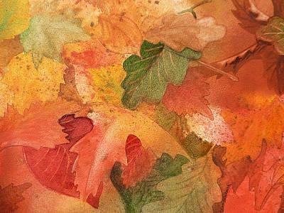 Fall Impressions II Art Print by Irina Sztukowski