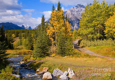 Fall In Banff National Park Art Print by Bob and Nancy Kendrick